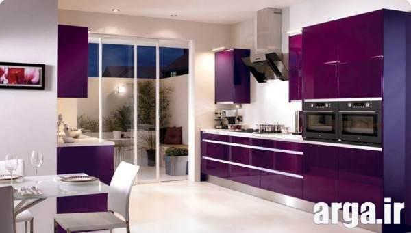 آشپزخانه بنفش
