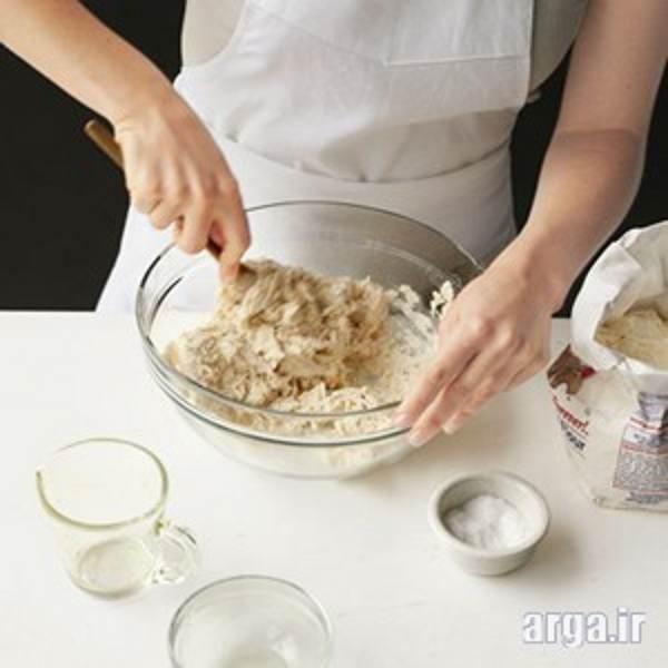 مرحله سوم طرز تهیه خمیر پیتزا