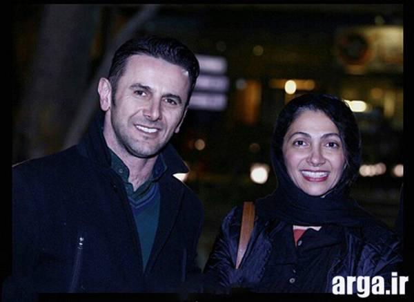 عکس های امین حیایی و همسرش در خیابان