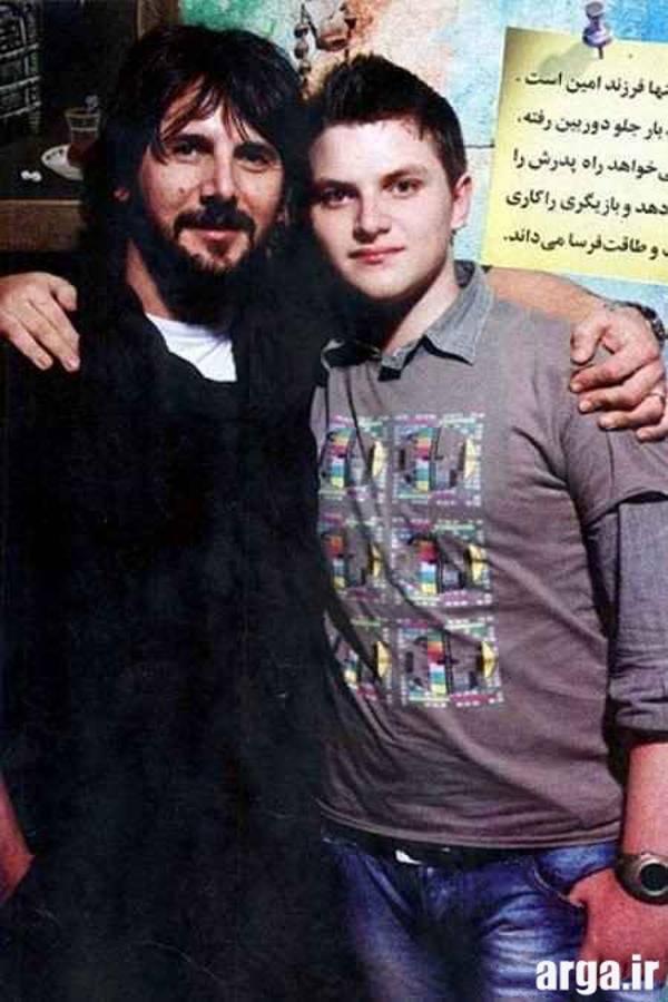 امین حیایی و پسرش