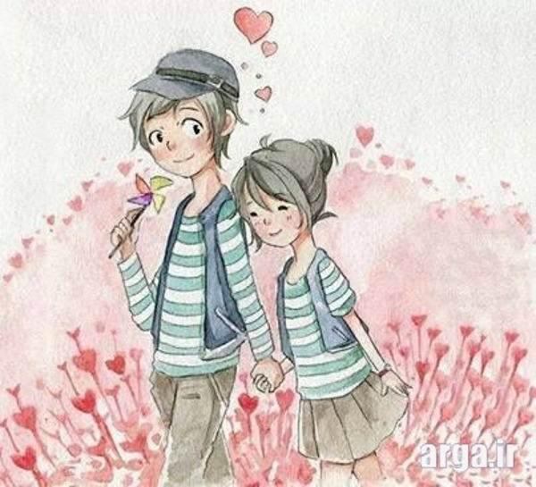 راه رفتن دو نفره عاشقانه