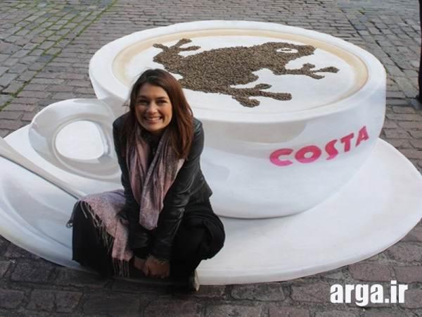 فنجان قهوه سه بعدی