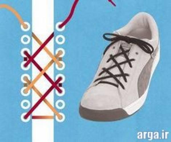 اولین مدل بستن بند کفش