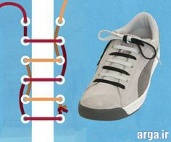 دومین مدل بستن بند کفش