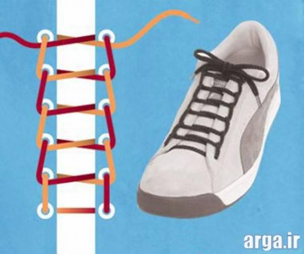 سومین مدل بستن بند کفش