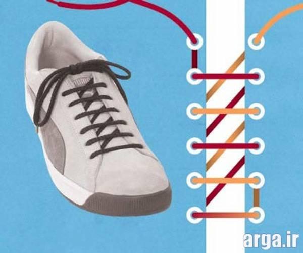 چهارمین مدل بستن بند کفش