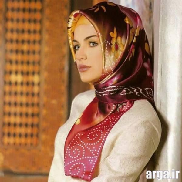 اولین مدل از روش جدید بستن روسری