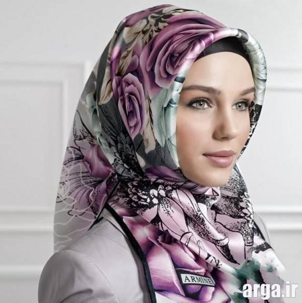 مدل جدید و زیبای بستن روسری