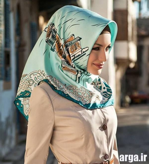 چهارمین مدل از روش جدید بستن روسری
