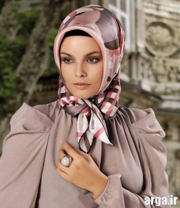 بستن روسری به روش لبنانی