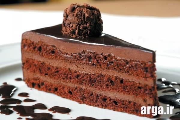 کیک شکلاتی خوش طعم و زیبا