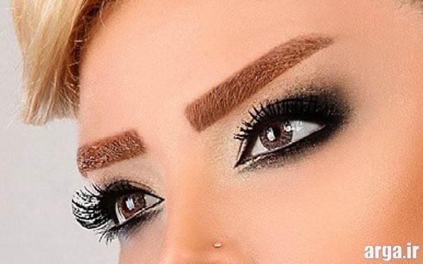 آرایش چشم و ابروی عروس