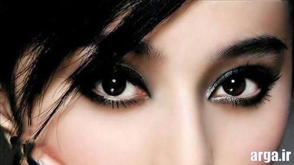 ارایش چشم دخترانه مشکی