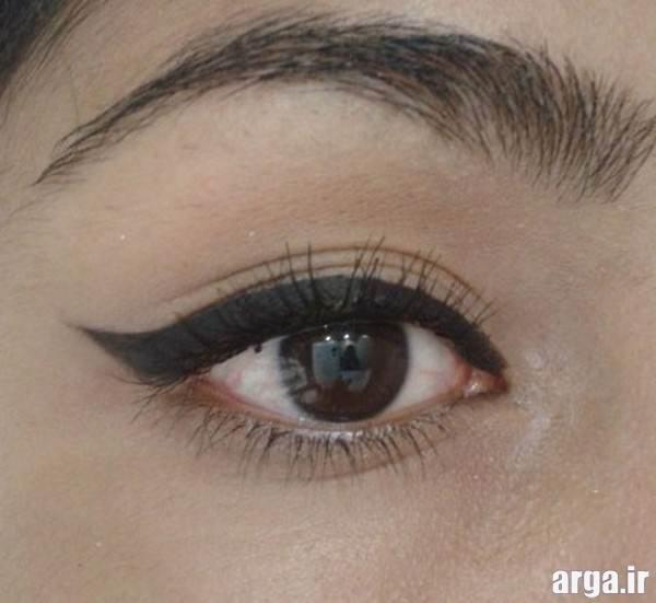 آرایش چشم ساده با خط چشم
