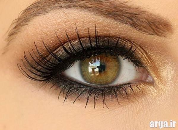 آرایش چشم ساده با سایه دودی
