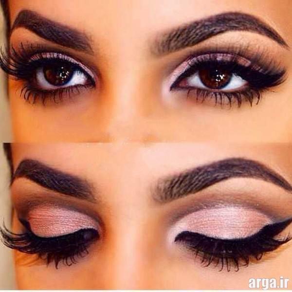 آرایش چشم زیبا و جذاب برای چشم های مشکی