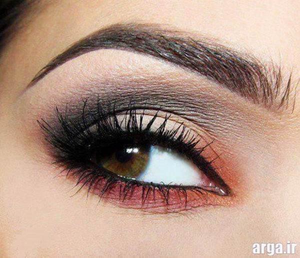 آرایش چشم زیبا با دورنگ سایه