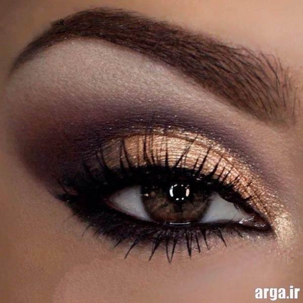 آرایش چشم زیبا با سایه براق