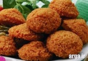 طرز تهیه فلافل با گوجه فرنگی