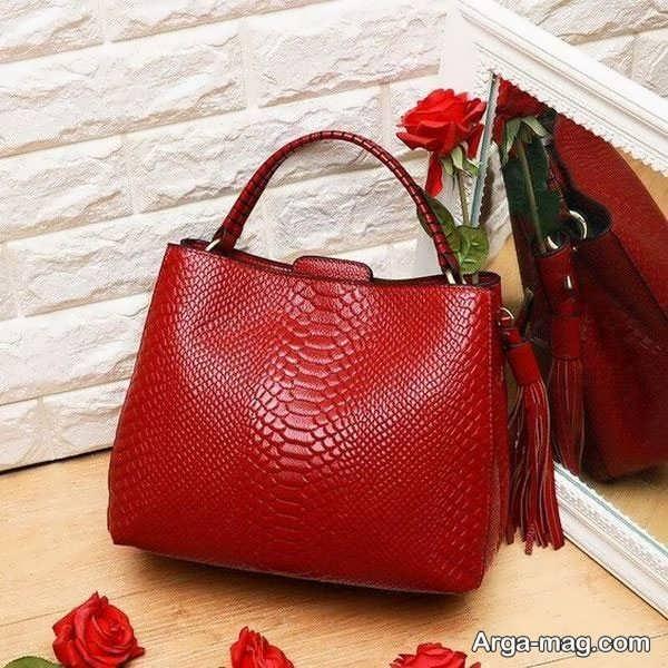 کیف چرم دست ساز زنانه
