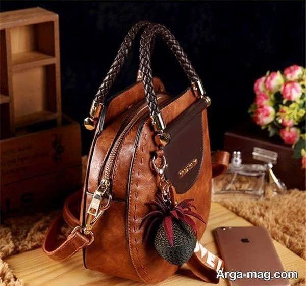 کیف چرم دست دوز زیبا