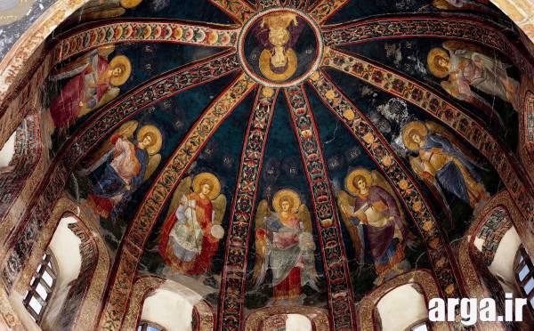 نمای داخلی کلیسای چورا در استانبول
