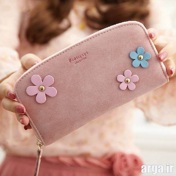 مدل کیف پول زنانه گلدار