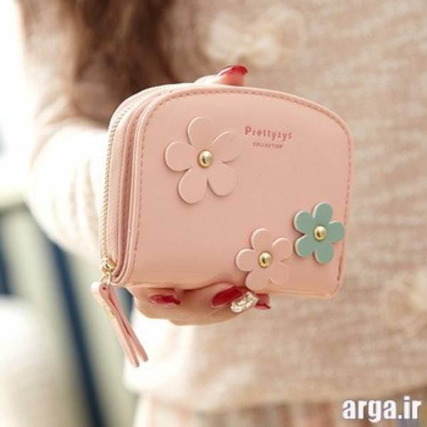 کیف پول کوچک گل دار