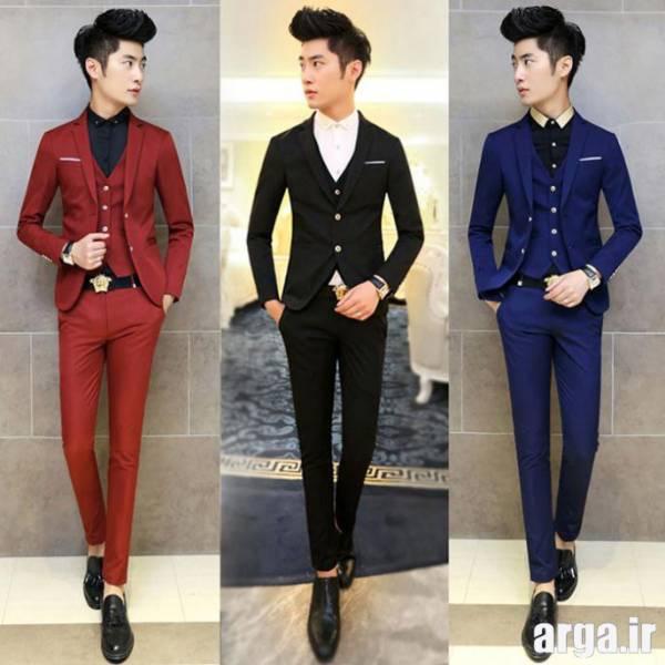 کت و شلوار در سه رنگ مردانه