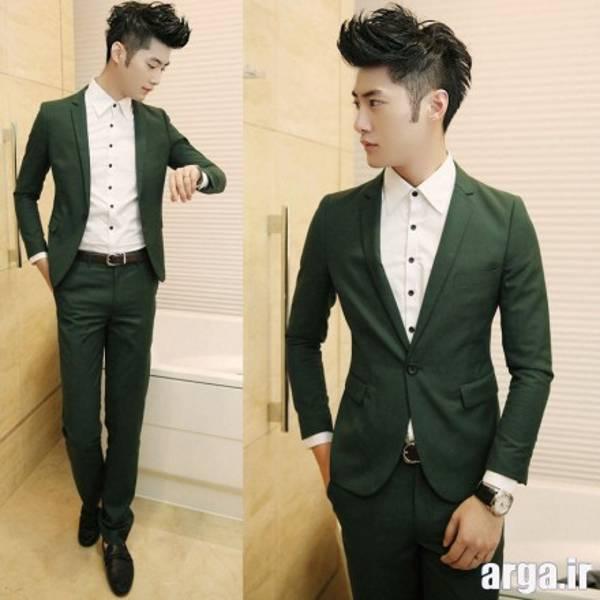کت و شلوار سبز مردانه