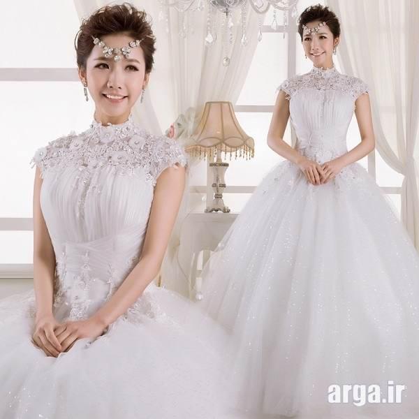 لباس عروس تمام کار کرده