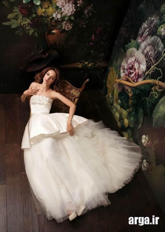 لباس عروس بالاتنه ساتن