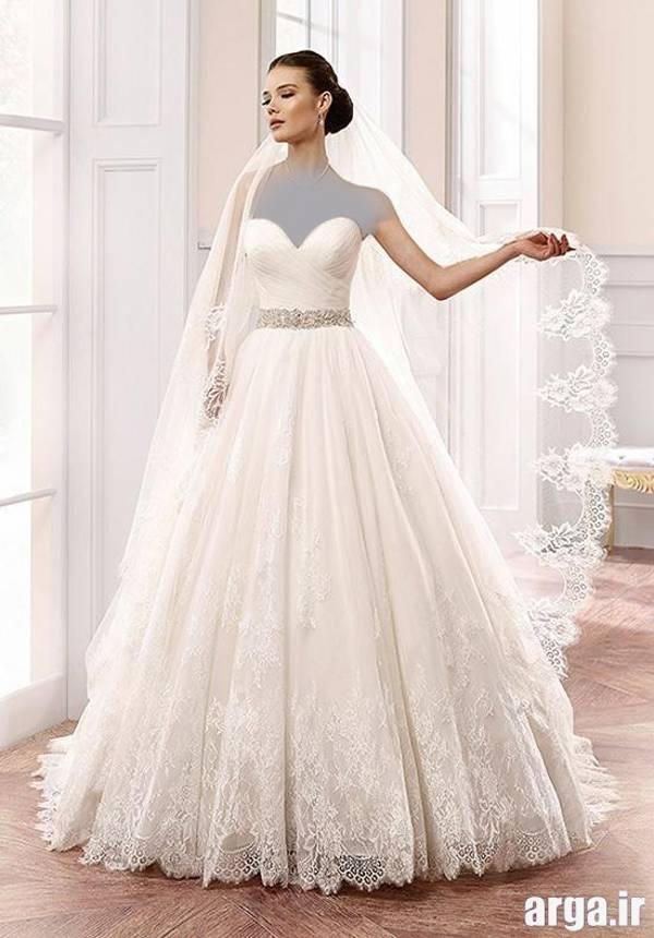 لباس عروس با تور عربی