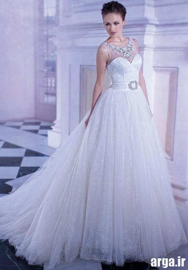 لباس عروس با دامت تور