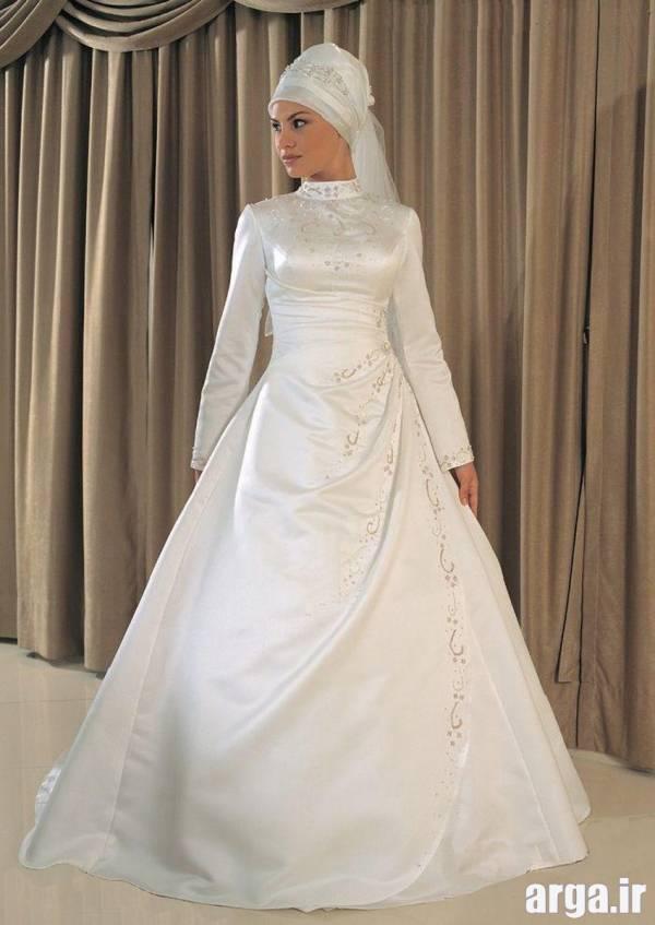 لباس عروس پوشیده ساده