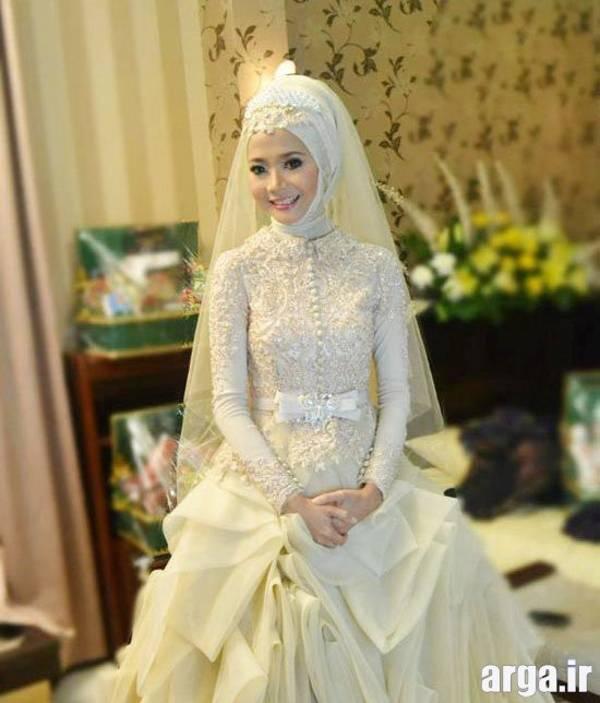 لباس عروس پوشیده عربی
