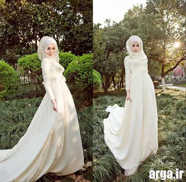 سومین مدل لباس عروس پوشیده