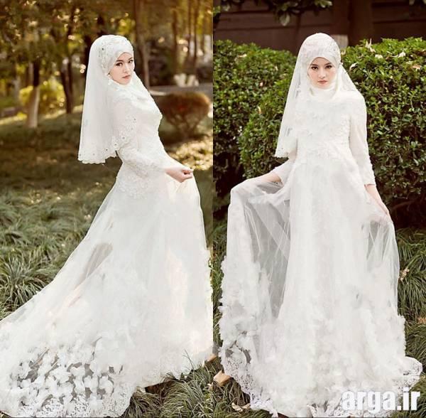 چهارمین مدل لباس عروس پوشیده