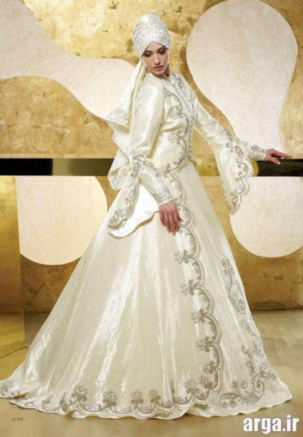 لباس عروس پوشیده زیبا