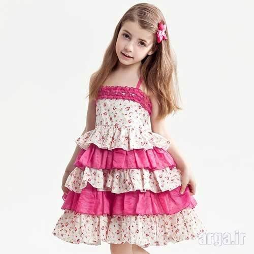 لباس دخترانه با دامن چند طبقه