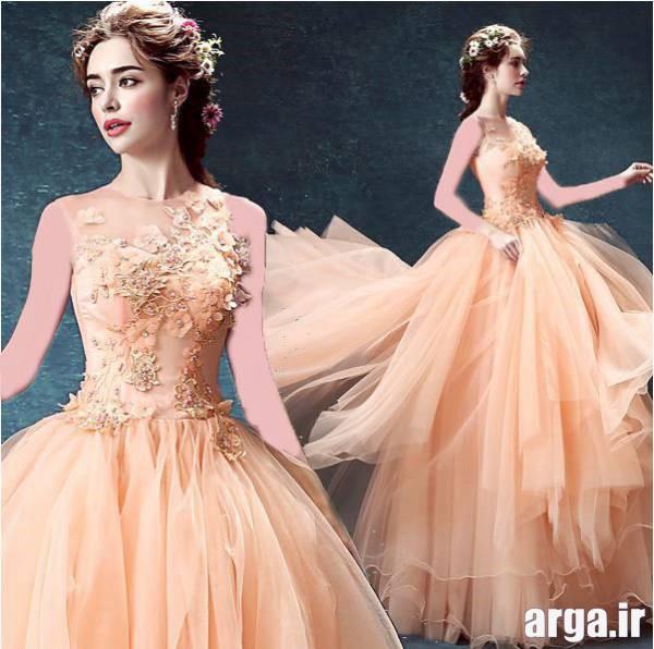لباس نامزدی حریر گلبهی