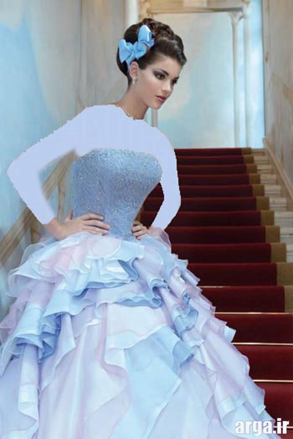 لباس نامزدی آبی کم رنگ