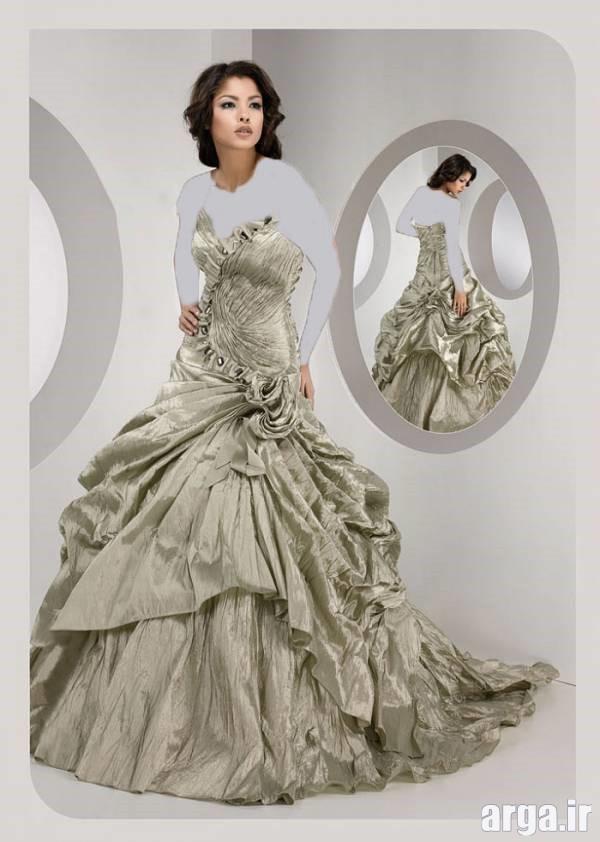 لباس نامزدی نقره ای