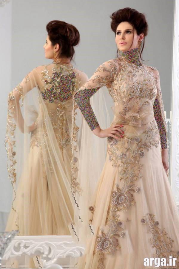 لباس نامزدی طلایی