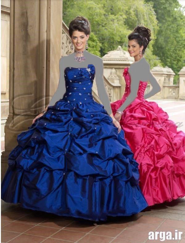 لباس نامزدی آبی پررنگ