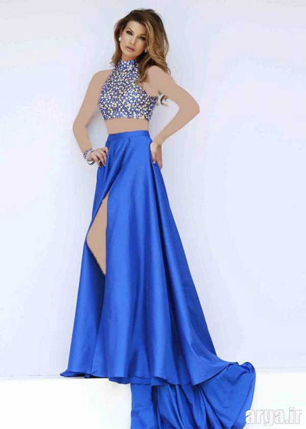 مدل لباس شب دنباله دار