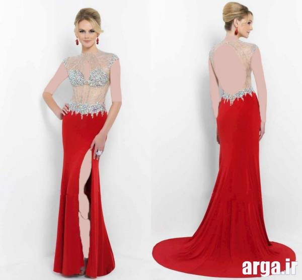 مدل لباس شب قرمز و زیبا