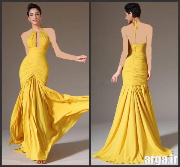 لباس شب زرد