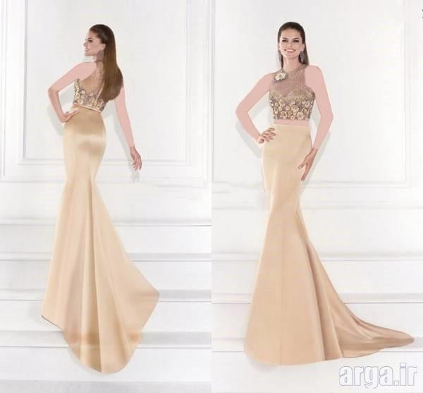 لباس شب طلایی