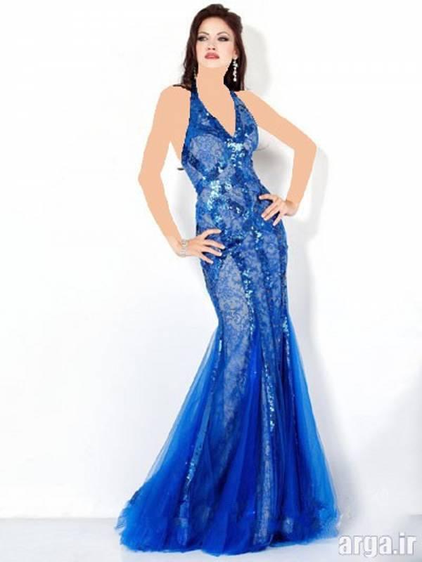 لباس شب آبی زیبا